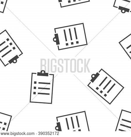 Vector Clipboard And Checklist With Checkmarks. Business Tablet With A Completed Application Form Se