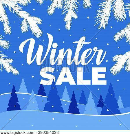 Winter Sale Vector Illustration For Banner And Flyer Winter Sale In Flat Style
