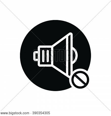 Black Solid Icon For None None Prohibited Ban Danger Sound No Stop Risk Warning Caution Circle