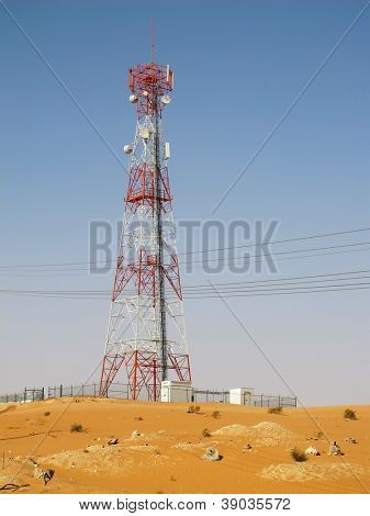 Telecommunication antenna near Riyadh, Saudi Arabia