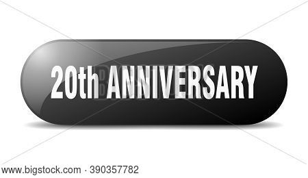 20th Anniversary Button. 20th Anniversary Sign. Key. Push Button.