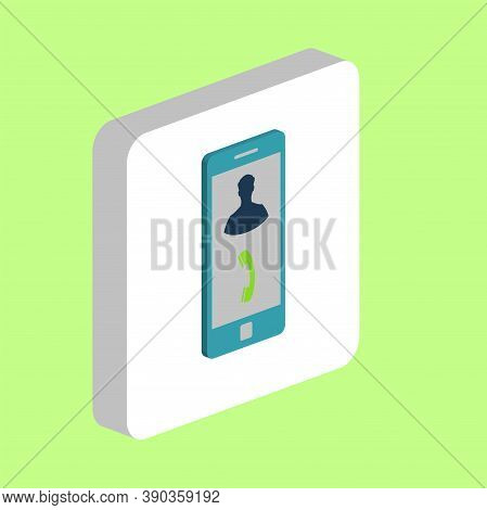 Incoming Call Simple Vector Icon. Illustration Symbol Design Template For Web Mobile Ui Element. Per