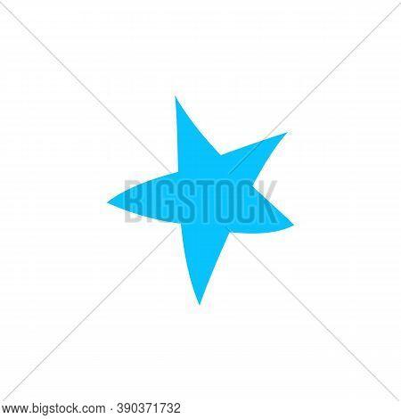 Starfish Icon Flat. Blue Pictogram On White Background. Vector Illustration Symbol