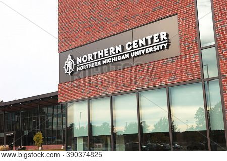 MARQUETTE, MI, October 6, 2020: Northern center at Northern Michigan university offers large meeting space in Marquette city Michigan upper peninsula. The university was established in 1899.