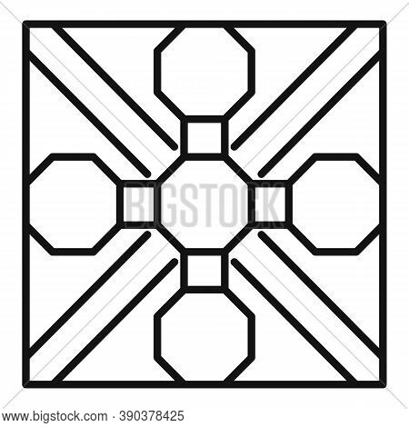 Tile Paving Icon. Outline Tile Paving Vector Icon For Web Design Isolated On White Background