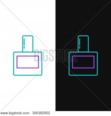 Line Aftershave Icon Isolated On White And Black Background. Cologne Spray Icon. Male Perfume Bottle