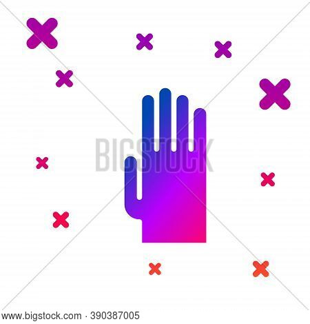 Color Rubber Gloves Icon Isolated On White Background. Latex Hand Protection Sign. Housework Cleanin