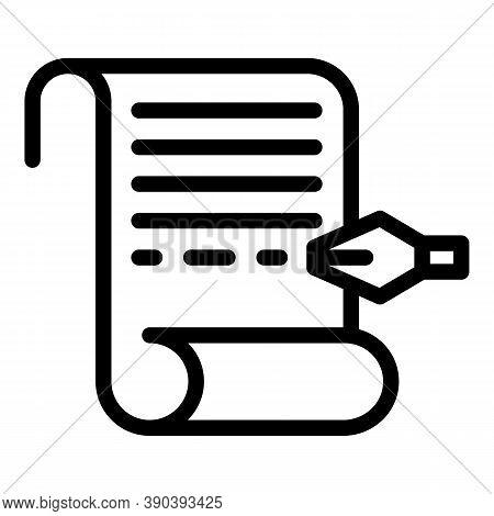 Write Scenario Icon. Outline Write Scenario Vector Icon For Web Design Isolated On White Background