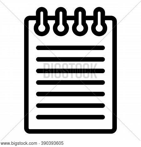 Story Scenario Icon. Outline Story Scenario Vector Icon For Web Design Isolated On White Background