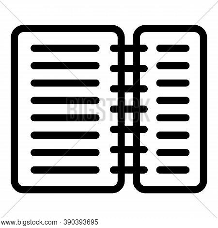Scenario Decree Icon. Outline Scenario Decree Vector Icon For Web Design Isolated On White Backgroun
