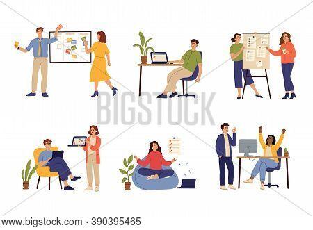 Successful Time Management. Manager Schedule, Effective Office Work Organizing. Task Desk, Agenda Pl