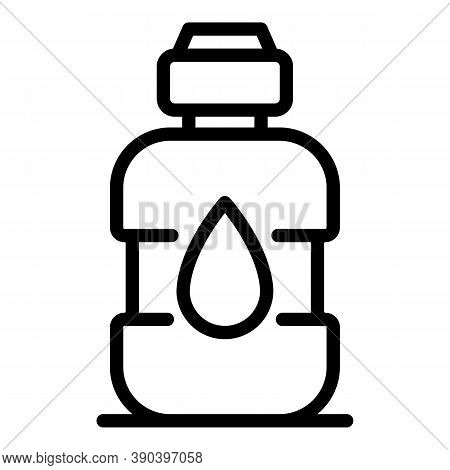 Bottle Rinse Icon. Outline Bottle Rinse Vector Icon For Web Design Isolated On White Background