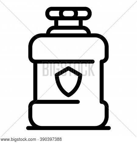 Mouthwash Rinse Icon. Outline Mouthwash Rinse Vector Icon For Web Design Isolated On White Backgroun