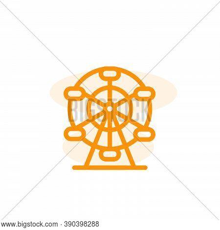 Ferris Wheel Icon Vector Design Template