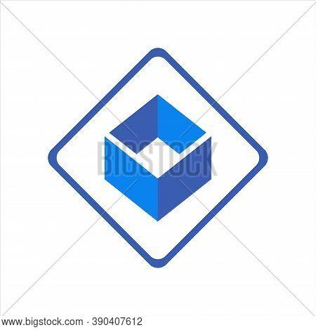 Abstract Letter O Vector Icon Logo Vector Flat Concept Design