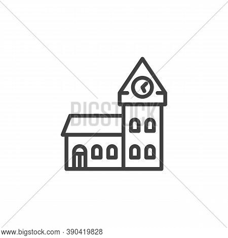 Big Ben Building Line Icon. Linear Style Sign For Mobile Concept And Web Design. Big Ben Tower Outli