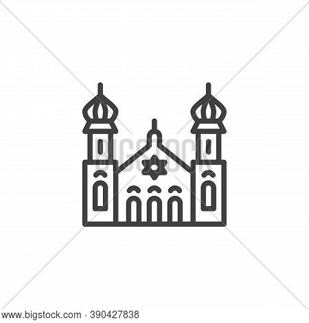 Synagogue Building Line Icon. Linear Style Sign For Mobile Concept And Web Design. Jewish Synagogue