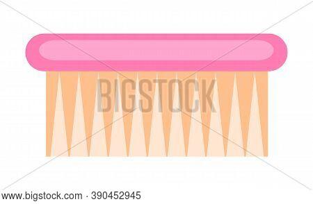 Fetlock Washing Brush Icon. Vector Fetlock Brush In Flat Style Isolated On White Background. Househo