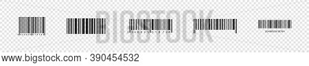 Barcode. Realistic Bar Code Vector Icons. Bar Code, Isolated. Vector Illustration