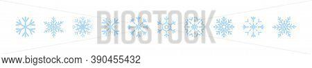 Snowflakes Icons. Snowflake Template. New Year, Winter, Christmas, Xmas. Whether Symbol. Snowflake W