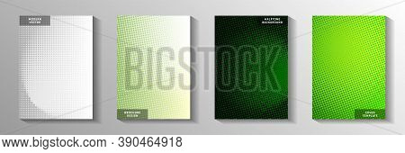 Simple Point Faded Screen Tone Cover Page Templates Vector Collection. Medical Flyer Perforated Scre