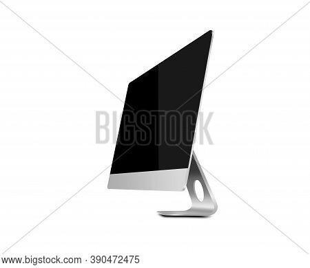 Tablet Pc With Black Screen Isolated On A White Background. 3d Illustration.