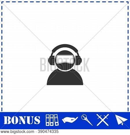 Meloman Icon Flat. Simple Vector Symbol And Bonus Icon