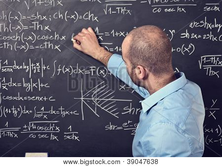 portrait of male teacher at work