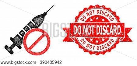 Wire Frame No Vaccine Icon, And Do Not Discard Corroded Ribbon Seal Print. Red Stamp Seal Contains D