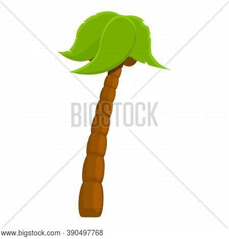 Hawaiian Palm Icon. Cartoon Of Hawaiian Palm Vector Icon For Web Design Isolated On White Background