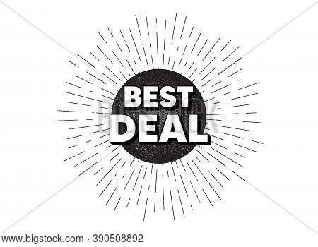 Best Deal. Vintage Star Burst Banner. Special Offer Sale Sign. Advertising Discounts Symbol. Hipster