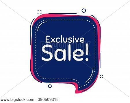 Exclusive Sale. Thought Bubble Vector Banner. Special Offer Price Sign. Advertising Discounts Symbol