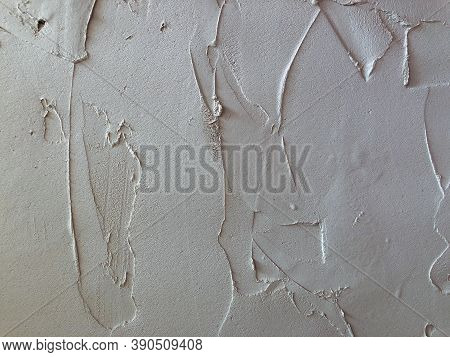 Textured Plaster. White Wall Stucco Texture. Plastered Background