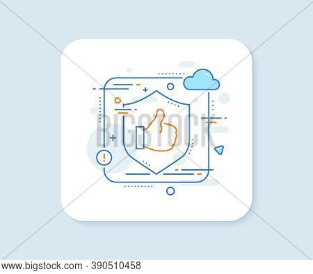 Like Line Icon. Abstract Vector Button. Thumbs Up Sign. Positive Feedback, Social Media Symbol. Like