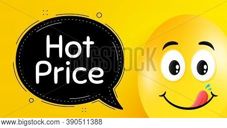 Hot Price. Easter Egg With Yummy Smile Face. Special Offer Sale Sign. Advertising Discounts Symbol.