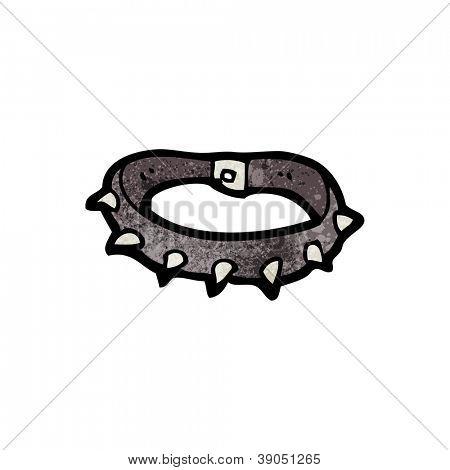 cartoon studded dog collar