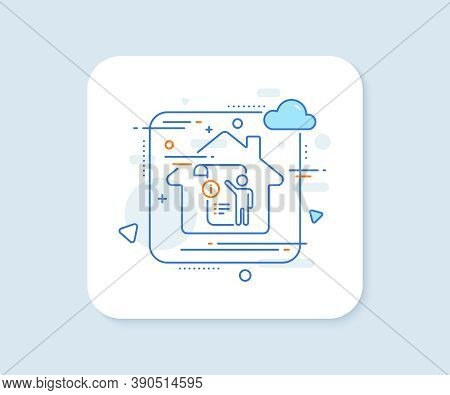 Manual Doc Line Icon. Abstract Vector Button. Technical Instruction Sign. Manual Doc Line Icon. Home