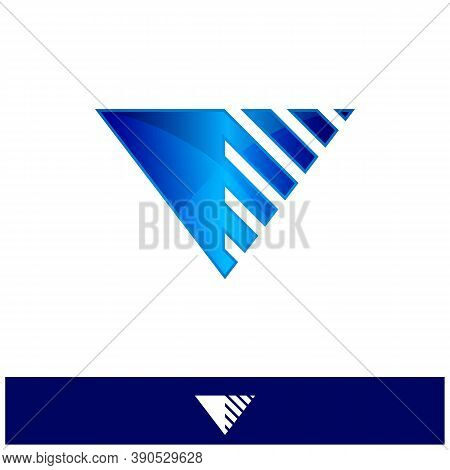 V Dots Logo Design Template. Hexagon V Icon. V Letter Logo Vector. Hexagon Logo, V Letter, V Dots, V