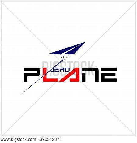 Modern Paper Plane With Letter Aero Plane For Transportation Logo Design