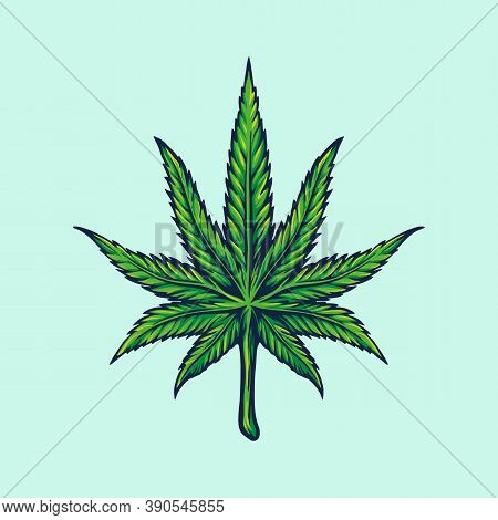 Weed Leaf, Marijuana Illustrations For Your Work Logo Merchandise Clothing Line, Stickers And Poster