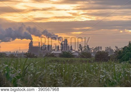 Mae Moh Coal Power Plant With Smoke And Toxic Air From Chimney. Factory Industry. Electricity Tower