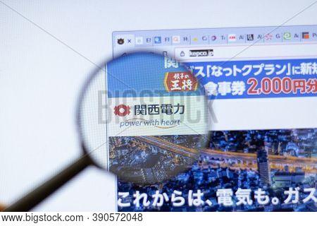 New York, Usa - 29 September 2020: Kepco Kepco.jp Company Website With Logo Close Up, Illustrative E