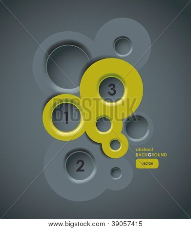 Abstract background, web design bubbles