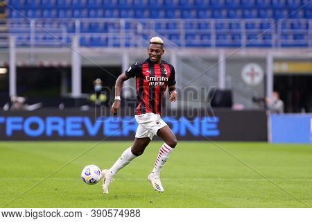 Milano (italy), 17th October 2020. Rafael Leao  Of Ac Milan   During The  Serie A Match  Between Fc