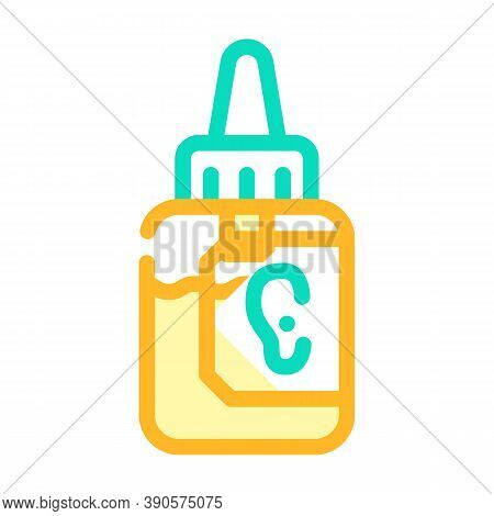 Drops Medicaments For Ears Color Icon Vector Illustration