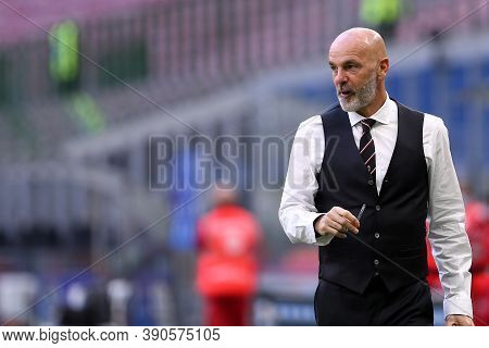 Milano (italy), 17th October 2020. Stefano Pioli, Head Coach Of Ac Milan During The  Serie A Match