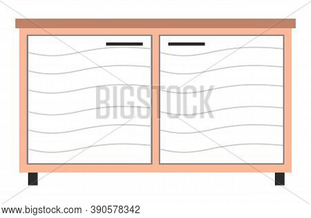 White Wide Medical Cupboard For Examining Animals, Storing Medicines, Performing Surgical Procedures