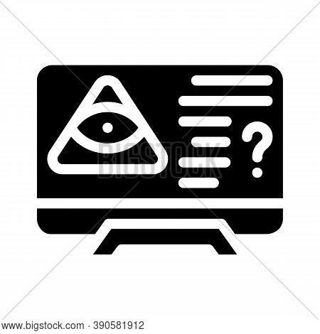 Worldwide Conspiracy Of Secret Organizations Glyph Icon Vector Illustration