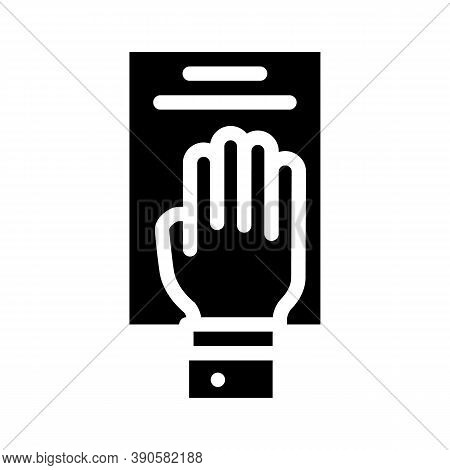 Oath On Constitution Glyph Icon Vector Illustration