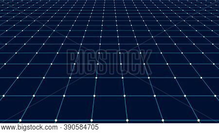 Vector Perspective Grid. Detailed Lines Forming An Abstract Background